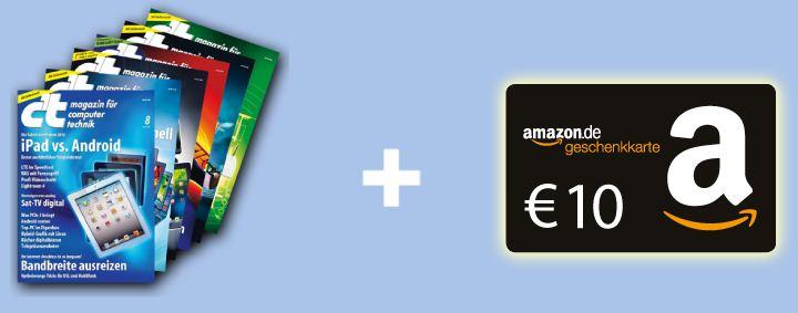 [Abo] 6x ct + 10€ Amazon Gutschein für nur 15,20€