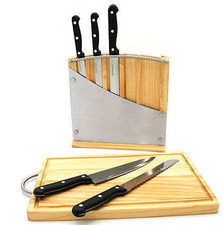 [eBay] 5 teiliges Messer Set mit Messerblock & extra Schneidbrett für nur 13,89€ inkl. Versand