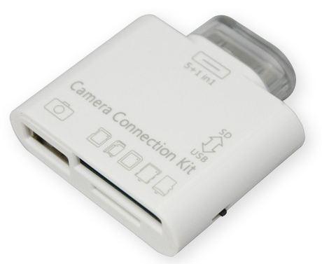 [Groupon] Für iPAD: 5+1 iPad Kamera Connection Kit zum Importieren von Fotos und Videos inkl. Versand 12,90€ statt 24,90€