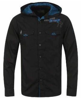 [the hut] Herren Kapuzenshirts: Bravesoul in schwarz für 17,99€ & Benzini in blaugestreift für 16,99€