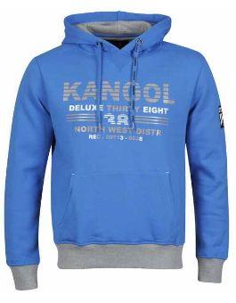 [the hut] Herren Hoody: Kangol Mens Salford in Electric Blue inkl. Versand  16,67€