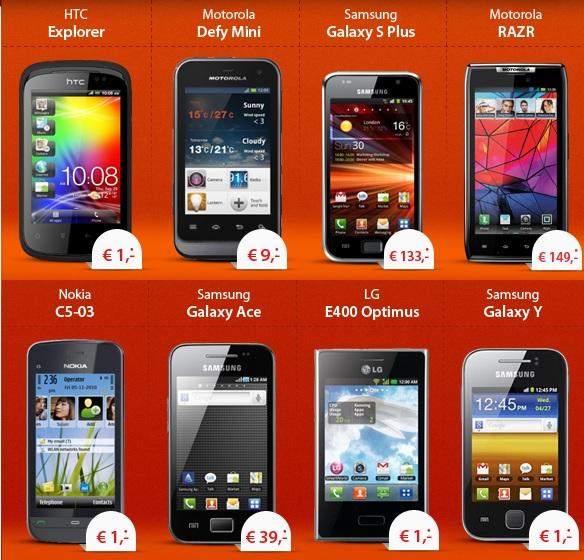 [Nur noch bis 10 Uhr!] Kostenloser Handyvertrag + fast GRATIS Smartphone ab 1€! Oder Motorola RAZR nur 149€ (statt 382€)