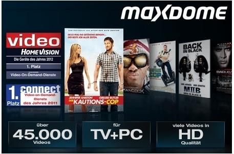 [Tipp] 3 Monate maxdome Movies & Serien streamen nur 7,99€ (endet automatisch!)
