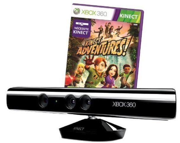 Xbox 360 Kinect Sensor + Spiel Kinect Adventures für 79,95€