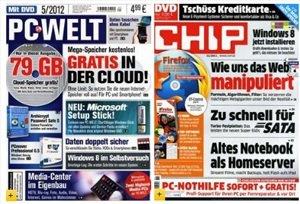 Verschiedene PC Zeitschriften ab 59,88€ im Jahr wie PC Welt, CHIP & PCgo (alle mit DVD) + 40€ Gutschein