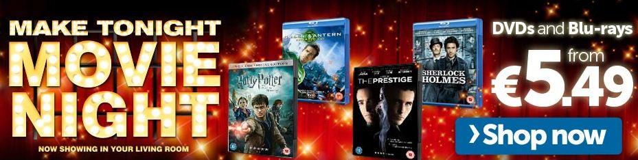 [play.com] Movie Night   verschiedene DVDs & Blu rays ab 5,49€ inkl. Versand