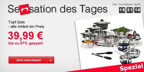[Neckermann] Verschiedene Topf Sets für je nur 39,99€ inkl. Versand