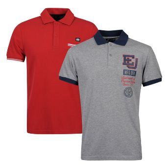 [the hut] 2er Pack Ecko Mens Upturn and Flatlands Polo Shirts für 17,07€ & Benzini Mens Lendal Long Sleeve T Shirt für 12,19€