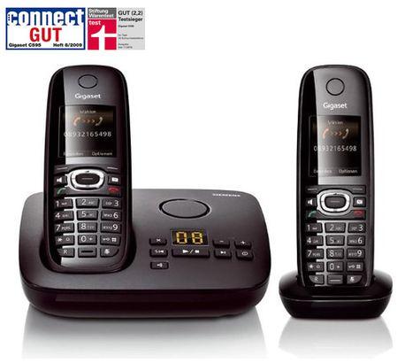 Siemens Gigaset Schnurlostelefon C595 Duo, mit AB und zusätzl. Handteil, inkl. Versand nur 69,99€