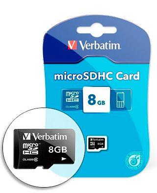 [druckerzubehoer.de] Verbatim micro SDHC Card mit 8 GB + 3 Gratis Artikel für nur 9,94€ inkl. Versand