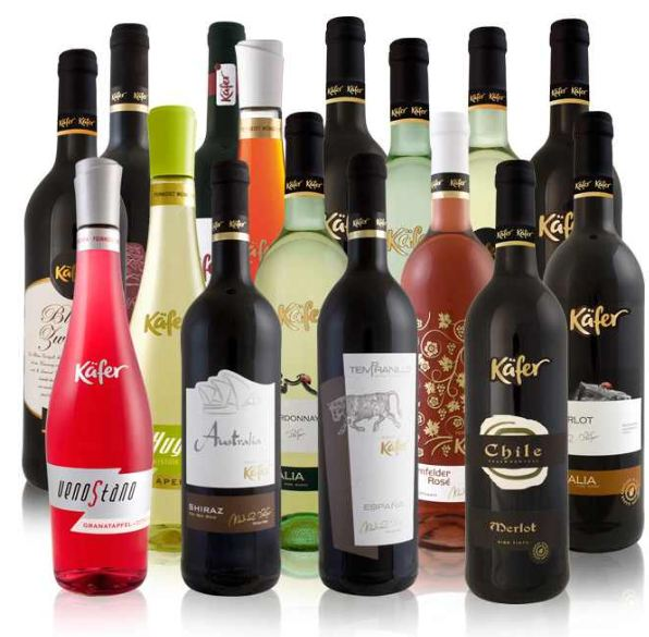 [ebay Wow] 6 Flaschen Käfer Feinkost Wein (0,75l): aus einer Auswahl von 7 Kombinationen, inkl. Versand 19,99€