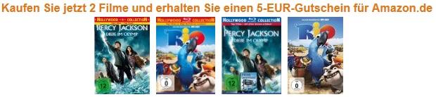 Filme Aktion bei Amazon! 2 Filme kaufen + 5€ Amazongutschein geschenkt dazu