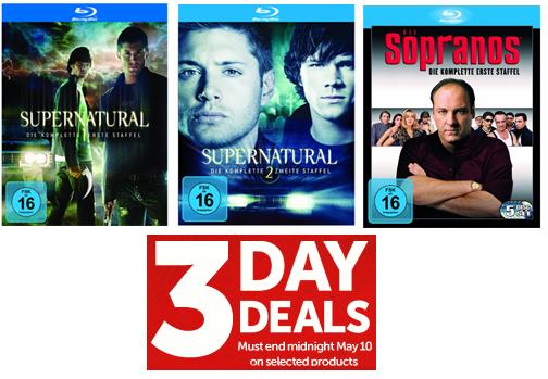 [Play.com] Blu rays: Supernatural 1 und 2 für je 13,19€ und Sopranos 1 für 16,79€