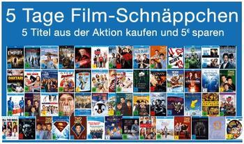 *Wieder da!* 5 Tage Schnäppchen   DVD & Blu ray Rabatte bei Amazon