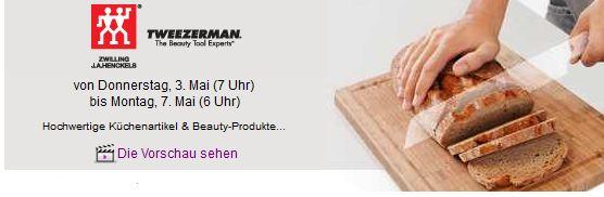 [Vente Privee] Zwilling & Tweezerman Aktion: alles für die Küche und Beauty Produkte!