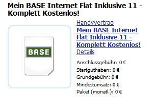 [Kostenlos] Mein Base internet Flat (500MB) dank Cashback!