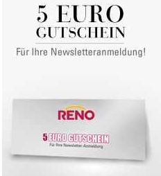 [Tipp] Hot! Bei Reno für 5€ kostenlos shoppen ohne Versandkosten und MBW!