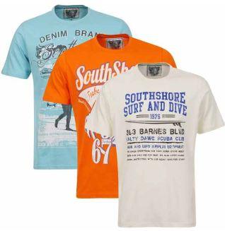 [thehut] Herren Shorts für 17,99€ und 3er Pack T  Shirts von South Shore für 22,99€ inkl. Versand