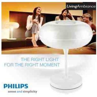 [iBOOD] Tischlampe: Philips White LivingAmbience inkl. Versand nur 159€ (Preisvergleich 400€)