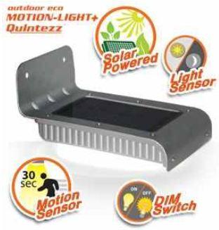 [iBOOD] Outdoor Eco Bewegungslicht: Quintezz mit Bewegungs und Lichtsensor und Solarbetrieb, inkl. Versand 25,90€