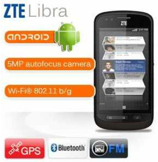 [iBOOD] Android Smartphone: ZTE   Libra mit 800x480 multi touchscreen inkl. Versand 105,90€
