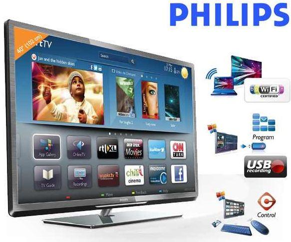 "40"" Philips LED TV mit USB Aufnahme, 400 Hz PMR, WiFi, inkl. Versand 444€"