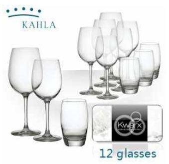 [iBOOD] Kahla: 12 teiliges Gläser Set mit lebenslang glänzenden Kwarx Gläsern inkl. Versand 25,90€