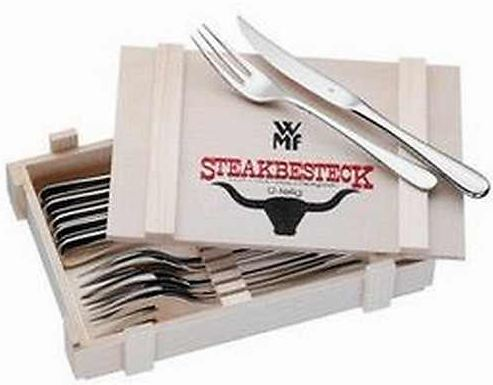 [Quelle] Q des Tages: WMf Steakbesteck 12tlg. in Holzbox inkl. Versand 34,90€