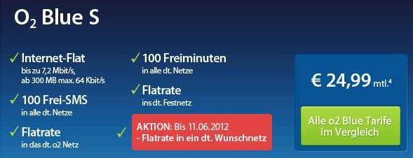[Sparhandy] O2: Internetflat – 100SMS – Festnetzflat – O2 Flat u. Wunschflat + Galaxy Ace Plus für 1€  (monatl. nur 24,99€)