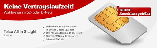 [handytick] Telco Tarif: 50 Freiminuten + 50 SMS + 200MB Internetflat (keine Vertragslaufzeit) ab 6,95€/Monat