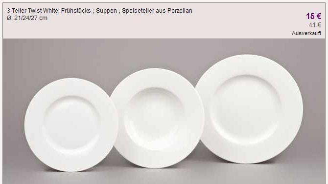 [Vente privee] Villeroy & Boch Sale: Gläser, Karaffen,Prozellan etc!