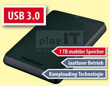 [ebay] 2.5 externe Festplatte: Toshiba 1TB mit USB 3.0 inkl. Versand nur 99,99€