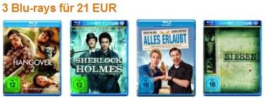 [Amazon] Neue Blu ray Aktion: 3Blu rays inkl. Versand nur 21€