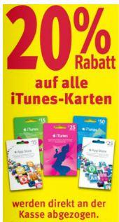 [Offline] Rossmann: 20% Rabatt auf iTunes Karten!