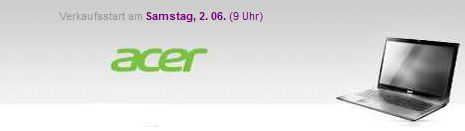[Vente privee] Überraschender Acer Deal ab Samstag 09:00Uhr!