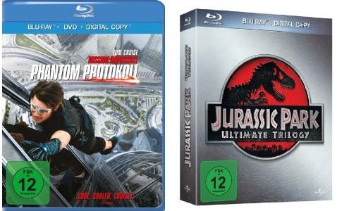 Jurassic Park Ultimate Trilogy [Blu ray] nur 15,99€ & Mission: Impossible – Phantom Protokoll ab 12,97€