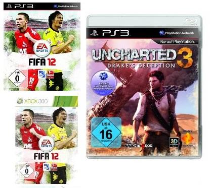 FIFA12 (PS3,Xbox,PC,Wii) für nur 17€ & Uncharted 3 nur 15€ durch Otto Neukundengutschein