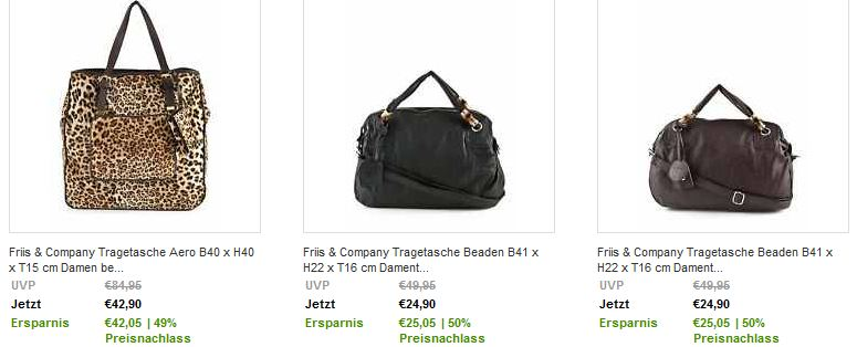 [ebay] Fashion Exclusives: Friis & Company Taschen mit bis 50% Rabatt!