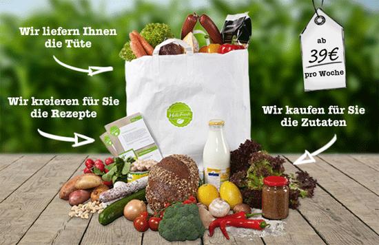 [HelloFresh] Große Bio Lebensmitteltüte (6 Portionen!) für effektiv 9€