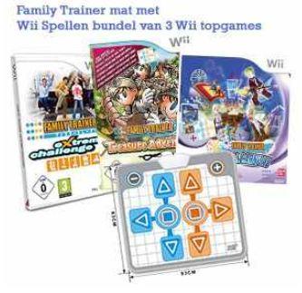 [iBOOD] Wii Family Trainer Bundle mit Mat + Magische Karneval, Treasure Adventure und Extreme Challenge inkl. Versand 45,90€