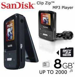 [iBOOD] MP3 Player: Sandisk 8GB Sansa Clip Zip, inkl. Versand 45,90€