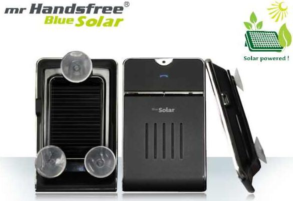 [iBOOD] Freisprechanlage: Mr. Handsfree Bluetooth Multipoint Carkit mit Solarzelle, inkl. Versand 35,90€