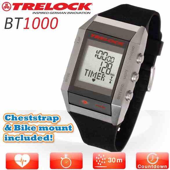 [iBOOD] Trelock Bodytrainer BT1000, Puls  und Multifunktions Uhr mit Brustgurt und Fahrradhalterung, inkl. Versand 35,90€