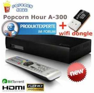 [iBOOD] Full HD Media Player: Popcorn Hour A 300 mit WiFi Dongle inkl. Versand 225,90€
