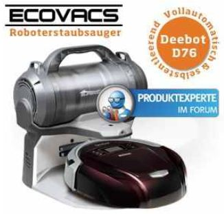 [iBOOD] Staubsauger Roboter: Ecovacs Deebot D76 mit Selbstreinigungsfunktion inkl. Versand 308,90€