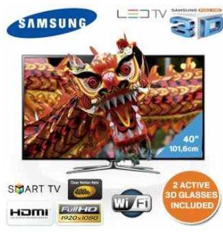 """[iBOOD] 40""""er 3D LED TV: Samsung, 400Hz, 101,6 cm mit WLAN, USB Aufnahme, inkl. Versand 758,90€"""
