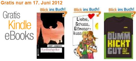 [Gratis] Kindle e Books: Dumm Kickt Gut und 2 weitere Titel kostenlos!