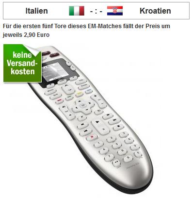 [redcoon] Logitech Harmony 600 ab 14,50€, je nachdem wie Italien vs. Kroatien ausgeht