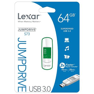 [Amazon] 64GB USB 3.0 Stick: Lexar JumpDrive S73 für 36,95€ inkl. Versand