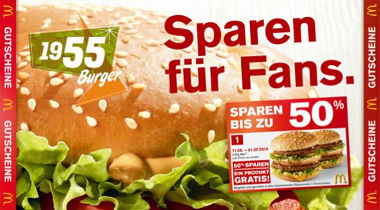 Neue McDonalds Gutscheine zum audrucken   November 2012
